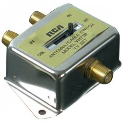 RCA - VH71R - RCA VH71R 2-Way A/B Coaxial Cable Slide Switch