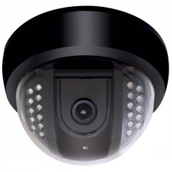 Speco - VL-648IRVF - Speco VL-648IRVF Indoor Dome Camera with Built-in IR LEDs - Color - CCD - Cable