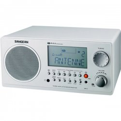 Sangean - WR-2 WHITE - Sangean WR-2 Digital AM/FM Table Top Radio - 5 x AM, 5 x FM Presets