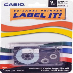 Casio - XR9WES - Casio White Tape - 0.35 - 1 x Tape