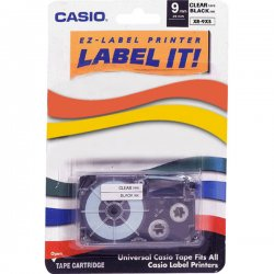 "Casio - XR-9XS - Casio Label Printer Tape - 0.35"" - 1 x Tape"