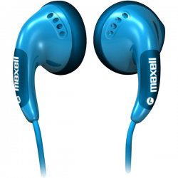Maxell - 190541 - Maxell Color Buds Stereo Earphone - Wired Connectivity - Stereo - Earbud - Blue