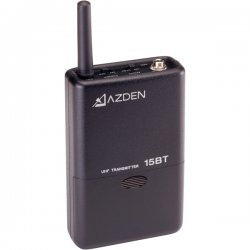 Azden - 15BT - Azden 15BT Wireless Bodypack Microphone Transmitter - 589.75MHz Transmitter Frequency