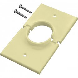 Midlite - 1GSAL - MIDLITE Splitport Faceplate - 1-Gang Wireport w/Grommet - White