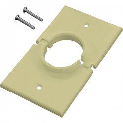 Midlite - 1GSIV - MIDLITE Splitport Faceplate - 1-Gang Splitport - Ivory