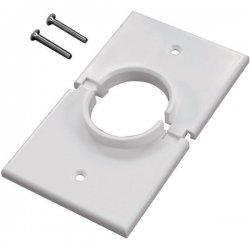 Midlite - 1GSWH - MIDLITE 1 Socket Faceplate - 1-Gang Splitport - White