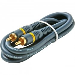 Steren Electronics - 254-110BL - Steren Python Home Theater Audio Cable - RCA Male - RCA Male - 3ft - Blue