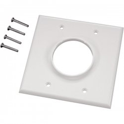 Midlite - 2GWH - MIDLITE Wireport 1-Socket Faceplate - 2-Gang Wireport - White