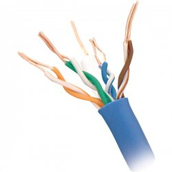 Steren Electronics - 300-793BL - Steren Cat.5e UTP Cable - Bare Wire - 1000ft - Blue