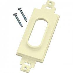 Midlite - DC1AL - MIDLITE Wireport 1-Socket Insert - Decor Style Wireport - Almond