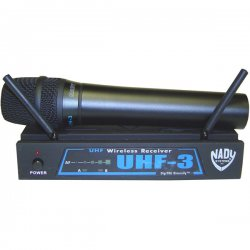 Nady System - UHF-3 HT SYS MU2 - Nady UHF-3 Wireless Microphone System - 480.55 MHz Operating Frequency - 30 Hz to 18 kHz Frequency Response - 500 ft Operating Range