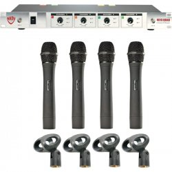 Nady System - 14910-10 N - Nady 401X Quad Wireless Microphone System - 250 ft Operating Range