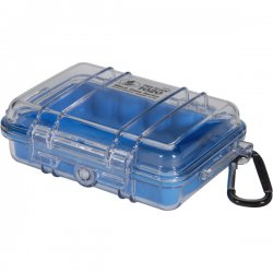 "Pelican - 1020-026-100 - Pelican 1020 Multi Purpose Micro Case - 4.75"" x 2.12"" x 6.82"" - Blue"
