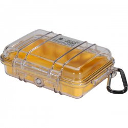 Pelican - 1020-027-100 - Pelican 1020 Multi Purpose Micro Case - 4.75 x 2.12 x 6.82 - Yellow
