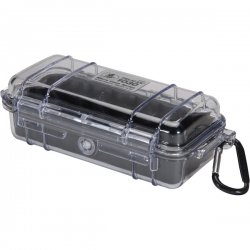 "Pelican - 1030-025-100 - Pelican 1030 Multi Purpose Micro Case - 3.87"" x 2.43"" x 7.5"" - Black"