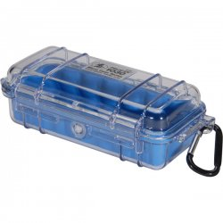 "Pelican - 1030-026-100 - Pelican 1030 Multi Purpose Micro Case - 3.87"" x 2.43"" x 7.5"" - Blue"