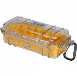 Pelican - 1030-027-100 - Pelican 1030 Multi Purpose Micro Case - 3.87 x 2.43 x 7.5 - Yellow