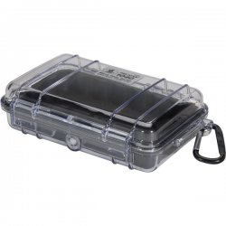 "Pelican - 1040-025-100 - Pelican 1040 Micro Case with Black Liner - 5.06"" x 2.12"" x 7.5"" - Clear"