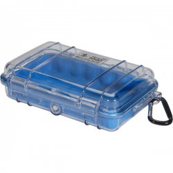 "Pelican - 1040-026-100 - Pelican 1040 Micro Case with Blue Liner - 5.06"" x 2.12"" x 7.5"" - Clear"