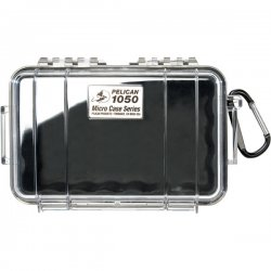 "Pelican - 1050-025-100 - Pelican 1050 Micro Case with Black Liner - 5.06"" x 3.12"" x 7.5"" - Clear"
