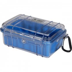"Pelican - 1050-026-100 - Pelican 1050 Micro Case with Blue Liner - 5.06"" x 3.12"" x 7.5"" - Clear"