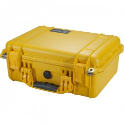 "Pelican - 1450-000-240 - Pelican 1450 Medium Hardware and Accessory Case - Internal Dimensions: 10.18"" Width x 6"" Depth x 14.62"" Height - External Dimensions: 13"" Width x 6.9"" Depth x 16"" Height - Double Throw Latch Closure - Yellow - For Multipurpose"