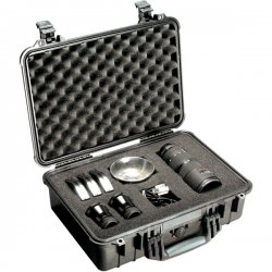 "Pelican - 1500-000-110 - Pelican PELICAN PROTECTOR PROTECTOR CASE 1500 W/ FOAM BLACK - Crush Proof, Dust Proof - Stainless Steel, Copolymer - Handle - 14.1"" Height x 18.5"" Width x 6.9"" Depth"