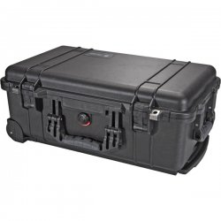 "Pelican - 1510-000-110 - Pelican 1510 Shipping Box with Foam - Internal Dimensions: 19.75"" Length x 11"" Width x 7.60"" Depth - External Dimensions: 22"" Length x 13.8"" Width x 9"" Depth - Double Throw Latch Closure - Black - For Multipurpose"