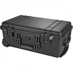 "Pelican - 1510-004-110 - Pelican Medium Carry On Case with Padded Divider - 13.82"" x 9"" x 22"" - Black"