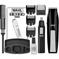 Wahl Clipper - 5537 1801 - Wahl 5537 1801 Blk Cordless Beard Trimmer Bonus Brow Ear Nos