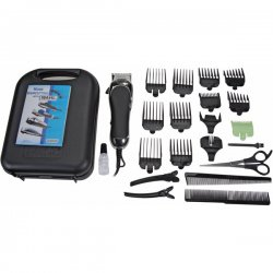 Wahl Clipper - 79524 2501 - Wahl 79524 2501 Haircut Kit 24 Piece Hard Case Chrome Pro