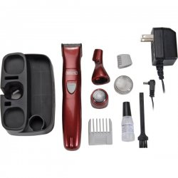 Wahl Clipper - 9865 100 - Wahl 9865 100 Hair Trimmer Body Kit 3detachable Heads 4in1