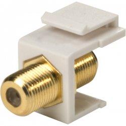 Steren Electronics - 310-416WH-10 - Steren Keystone Modular Insert - F Connector