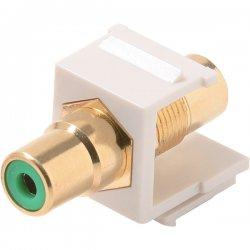 Steren Electronics - 310-458WH-10 - Steren Keystone Modular Insert - 10 Pack - 1 x RCA Female Audio/Video - 1 x RCA Female Audio/Video