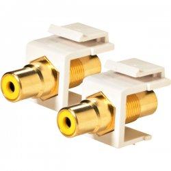 Steren Electronics - 310-464WH-10 - Steren Keystone Modular Insert - RCA