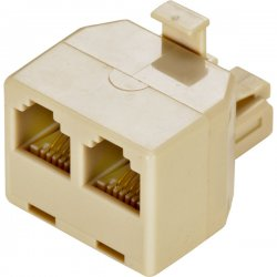 Steren Electronics - 300-024IV-10 - Steren 300-024IV-10 Phone Adapter - 6 Pack - 1 x Phone - 2 x Phone - Ivory