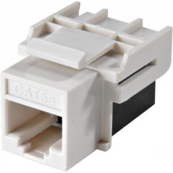 Steren Electronics - 310-042WH-10 - Steren Cat.5e Keystone Coupler - 10 Pack - 1 x RJ-45 Female Network - 1 x RJ-45 Female Network - White