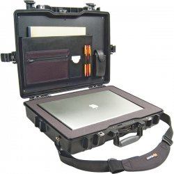 "Pelican - 1495-008-110 - Pelican 1495 Notebook Case with Foam - 17.25"" x 4.87"" x 21.62"" - Black"