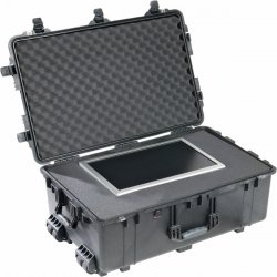 "Pelican - 1650-021-110 - Pelican 1650 Large Rolling Hardware and Accessory Case - Internal Dimensions: 17.52"" Width x 10.65"" Depth x 28.57"" Height - External Dimensions: 20.5"" Width x 12.5"" Depth x 31.6"" Height - Double Throw Latch Closure - Polyurethane"