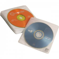 Case Logic - CDS120 - Case Logic ProSleeves Double Sided CD Sleeve - Fabric - White - 120 CD/DVD
