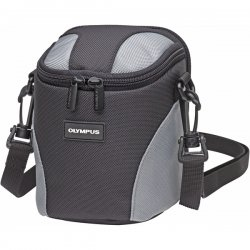 "Olympus - 202309 - Olympus Ultra Zoom Digital Camera Case - 5.5"" x 5.5"" x 3.3"" - Nylon - Gray"