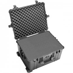 "Pelican - 1620-021-110 - Pelican 1620 Case - Internal Dimensions: 21.48"" Length x 16.42"" Width x 12.54"" Depth - External Dimensions: 24.6"" Length x 19.4"" Width x 13.8"" Depth - 19.15 gal - Hinged, Double Throw Latch Closure - Copolymer, Polypropylene -"