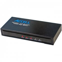 Accell - K078C-004B - Accell UltraAV Mini 1x4 HDMI Splitter - 1 x HDMI Type A Digital Audio/Video In, 4 x HDMI Type A Digital Audio/Video Out