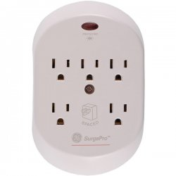GE (General Electric) - 55205 - GE SurgePro 5-Outlets Surge Suppressor - 5 Receptacle(s) - 566 J - 125 V AC Input - 125 V AC Output