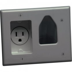 DataComm - 45-0021-GY - DataComm 1 Socket Faceplate - 1 x Socket(s) - Gray