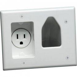 DataComm - 45-0021-WH - DataComm 1 Socket Faceplate - 1 x Socket(s) - White