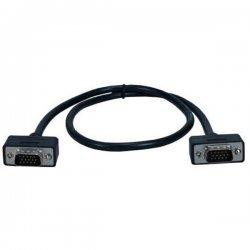 QVS - CC388M1-02 - QVS Premium CC388M1-02 Coaxial UltraThin VGA Cable - Coaxial - 2 ft - 1 x HD-15 Male VGA - 1 x HD-15 Male VGA - Shielding