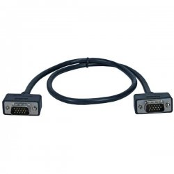 QVS - CC388M1-03 - QVS UltraThin VGA/QXGA Cable - HD-15 Male VGA - HD-15 Male VGA - 3ft