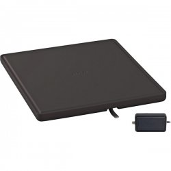 RCA - ANT1450BZ - RCA(R) ANT1450BZ Multidirectional Amplified Indoor Flat HDTV Antenna