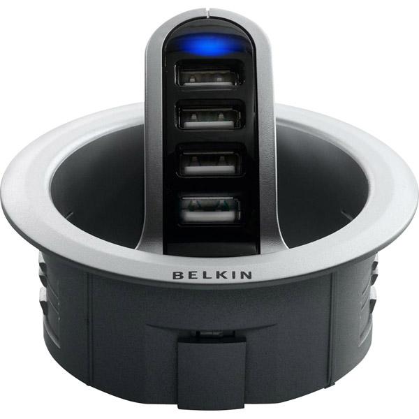 Belkin - F5U201-KIT - 4 Port Usb Hub Bundle Hub/grommet